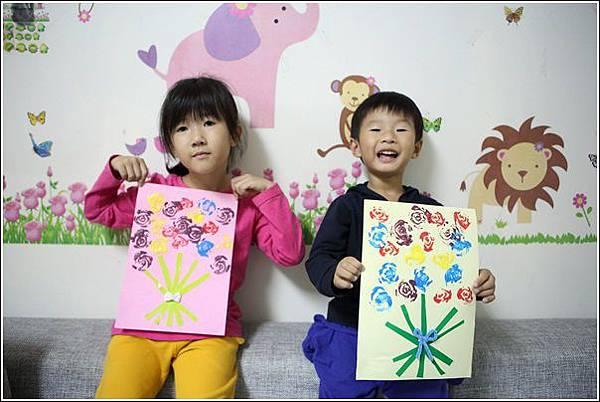 青菜印畫 (2)