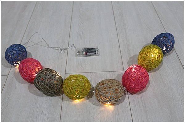 藤球燈串DIY (2)