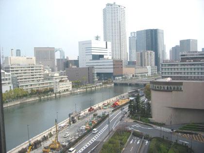 第二晚的大阪HOTEL 居高臨下來一張