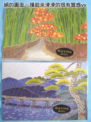 買到很棒的絹質明信片