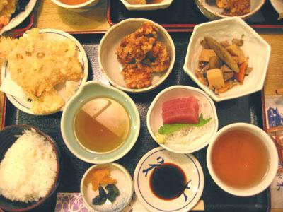 神戶的晚餐依然是定食=..=b