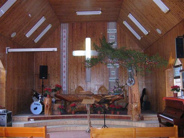 很有特色的禮拜堂講台