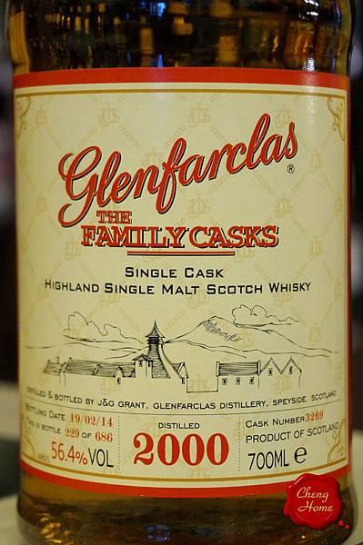 Glenfarclas格蘭花格2000家族桶(標)