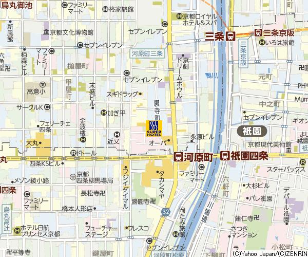 京都suoer hotel地圖