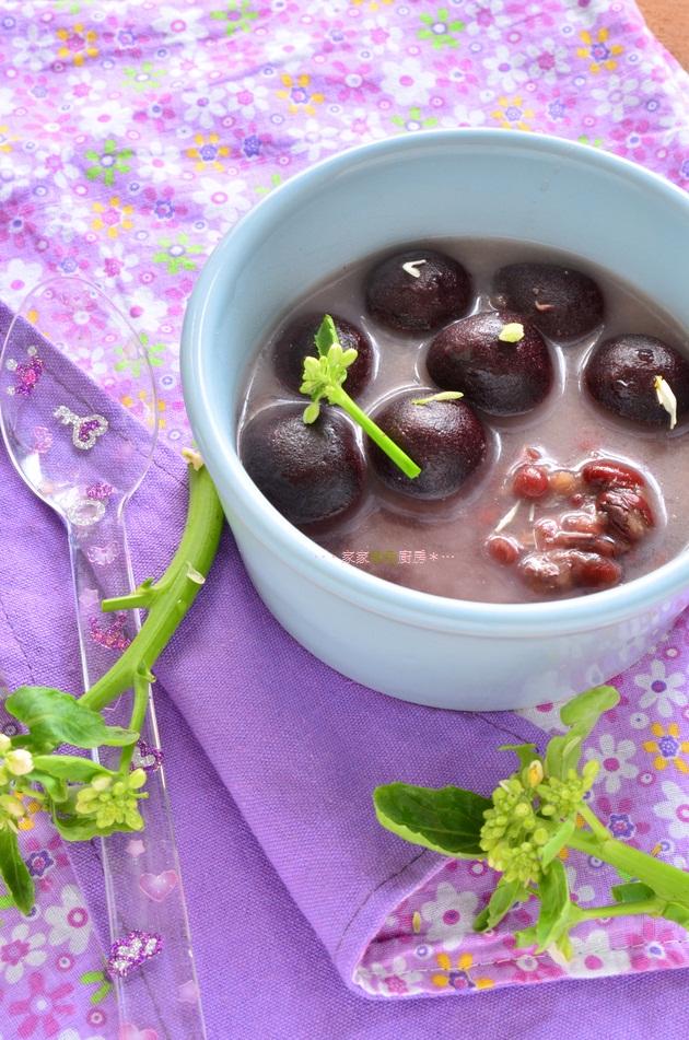 【冬至節】100%紫米做的~芝麻奶紅豆湯圓 (11)