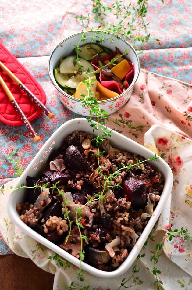 烤甜菜根與黑糙米飯 (2)-01