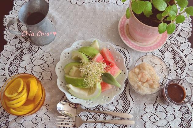 【充滿夏日氣息の】3種水果燕麥優格 (8)