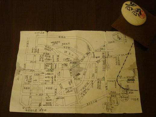手繪的台東市街道圖