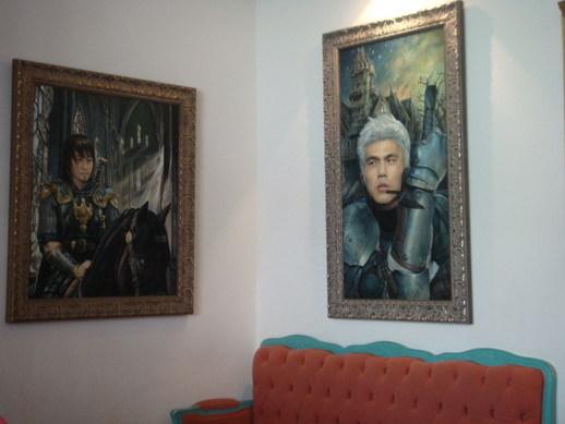 二樓的壁畫