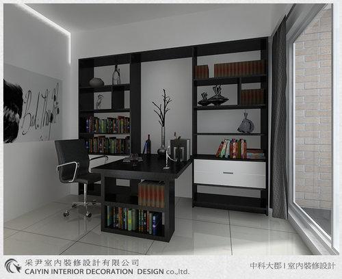 台中室內設計-系統櫃-系統櫃設計-書櫃-朵瓦櫥櫃 (16).jpg