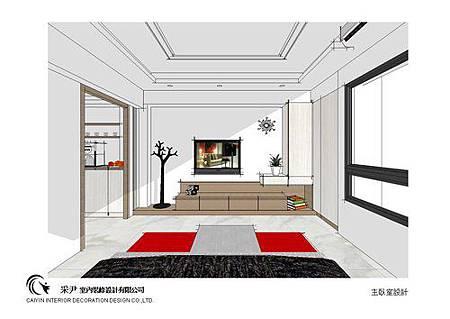 台中系統櫃設計-居家住宅設計-系統家具訂製-書臥室設計 (3)