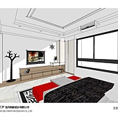 台中系統櫃設計-居家住宅設計-系統家具訂製-書臥室設計 (8)