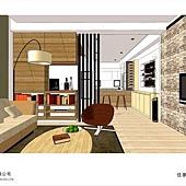 台中系統家具-美式住宅設計-系統家具-居家住宅設計 (2)