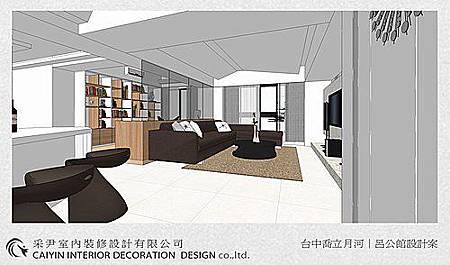 台中室內設計-居家系統櫃-客廳設計-收納規劃 (2)