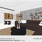 台中室內設計-居家系統櫃-客廳設計-收納規劃 (4)