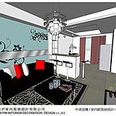 台中室內設計-空間設計-系統櫃規劃-客廳設計-書房設計 (1)
