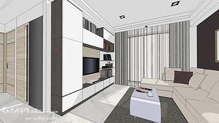 中部設計  居家裝潢 室內設計 天花板裝潢 鋁框門設計 (4).jpg