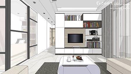 中部設計  居家裝潢 室內設計 天花板裝潢 鋁框門設計 (3).jpg