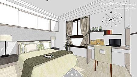 中部設計  居家裝潢 室內設計 天花板裝潢 鋁框門設計 (9).jpg