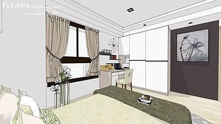 中部設計  居家裝潢 室內設計 天花板裝潢 鋁框門設計 (10).jpg