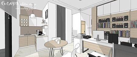 台中系統櫃  居家裝潢 天花板裝潢 電視牆設計 (3).jpg