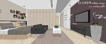 左岸璞園3 系統櫃  客廳裝潢 餐廳設計電視牆裝潢 (2).jpg