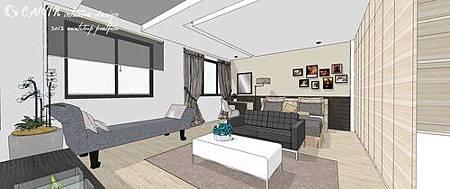 左岸璞園3 系統櫃 客廳裝潢 餐廳設計電視牆裝潢 (3).jpg