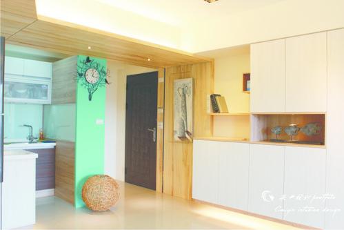情定水蓮 住宅設計 居家裝潢 系統櫃 壁貼設計 玄關設計 (2)