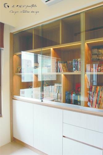 情定水蓮 住宅設計 居家裝潢 系統櫃 壁貼設計 玄關設計 (1)