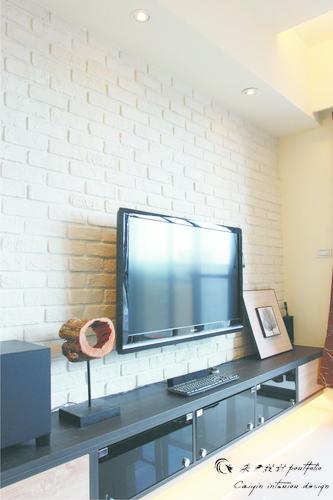 情定水蓮 住宅設計 居家裝潢 系統櫃 壁貼設計 玄關設計 (3)