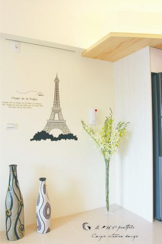 情定水蓮 住宅設計 居家裝潢 系統櫃 壁貼設計 玄關設計 (7)