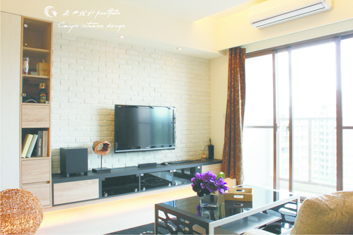 情定水蓮 住宅設計 居家裝潢 系統櫃 壁貼設計 玄關設計 (10)
