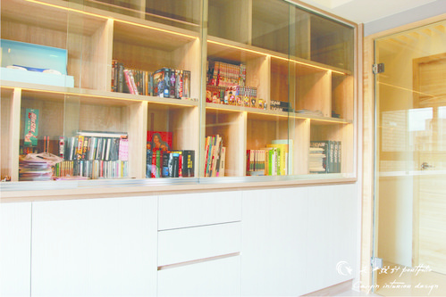 情定水蓮 住宅設計 居家裝潢 系統櫃 壁貼設計 玄關設計 (8)