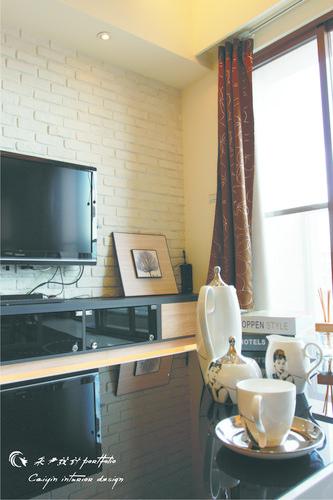 情定水蓮 住宅設計 居家裝潢 系統櫃 壁貼設計 玄關設計 (9)