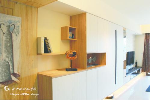 情定水蓮 住宅設計 居家裝潢 系統櫃 壁貼設計 玄關設計 (11)