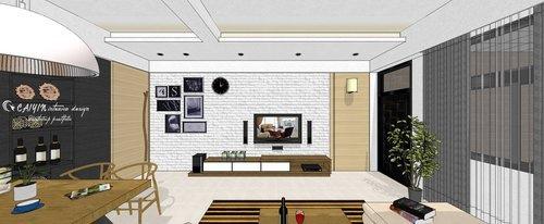 台中室內設計 系統櫃 客廳裝潢 餐廳裝潢  電視櫃 (3).jpg