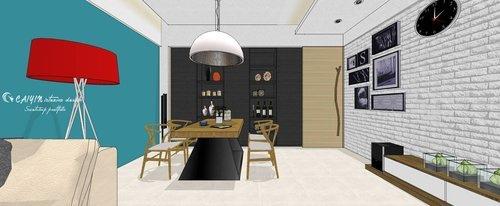 台中室內設計 系統櫃 客廳裝潢 餐廳裝潢  電視櫃 (2).jpg