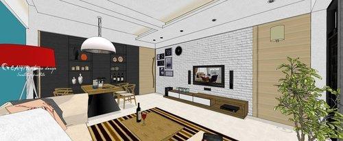 台中室內設計 系統櫃 客廳裝潢 餐廳裝潢  電視櫃 (4).jpg