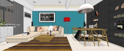 台中室內設計 系統櫃 客廳裝潢 餐廳裝潢  電視櫃 (8).jpg