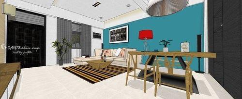 台中室內設計 系統櫃 客廳裝潢 餐廳裝潢  電視櫃 (6).jpg