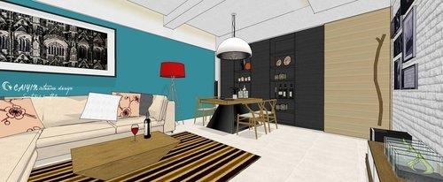 台中室內設計 系統櫃 客廳裝潢 餐廳裝潢  電視櫃 (5).jpg