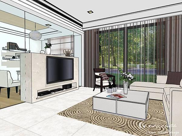 登陽建設 中山苑 室內設計 客餐設計  客廳設計 (8).jpg