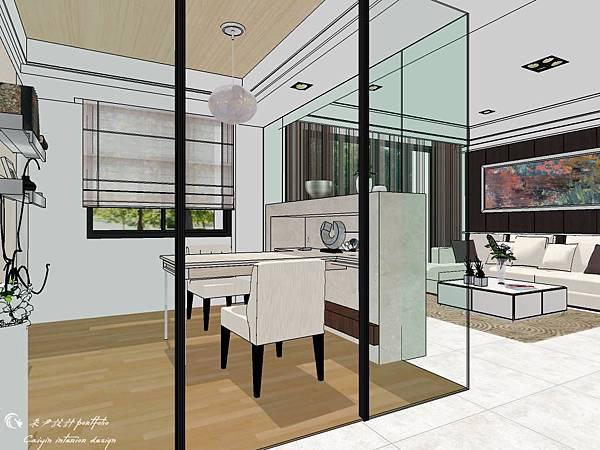 登陽建設 中山苑 室內設計 客餐設計  客廳設計 (10).jpg