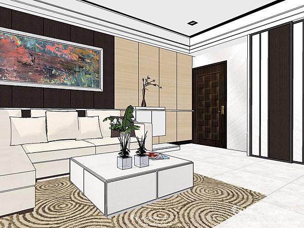 登陽建設 中山苑 室內設計 客餐設計  客廳設計 (12).jpg