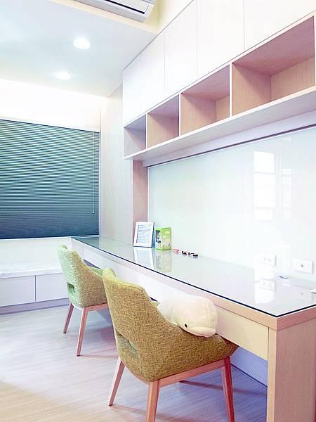 書櫃設計 書桌設計 系統櫃 女兒房設計 (1).jpg