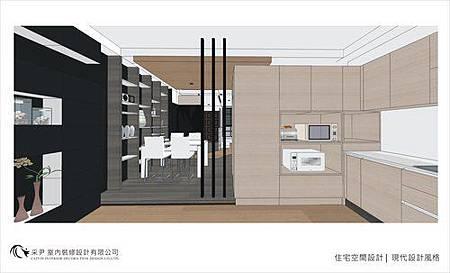 裝潢設計 書櫃設計 系統櫃設計 屏風設計 客廳設計 (8)