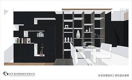 裝潢設計 書櫃設計 系統櫃設計 屏風設計 客廳設計 (1).jpg