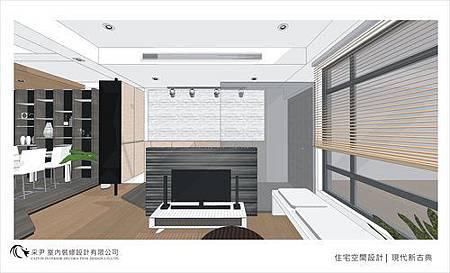 裝潢設計 書櫃設計 系統櫃設計 屏風設計 客廳設計 (2).jpg