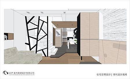 裝潢設計 書櫃設計 系統櫃設計 屏風設計 客廳設計 (3).jpg