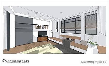 裝潢設計 書櫃設計 系統櫃設計 屏風設計 客廳設計 (4).jpg